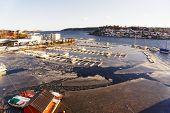 foto of fjord  - Norwegian fjord Havnefjorden - JPG