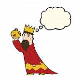 image of wise  - one of the three wise men with thought bubble - JPG