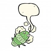 stock photo of woodlouse  - cartoon bug with speech bubble - JPG