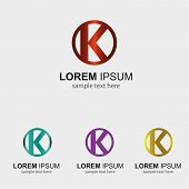 picture of letter k  - Letter K logo design template circle icon - JPG