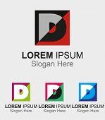 picture of letter d  - Letter D logo design sample icon vector - JPG