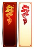 foto of dragon  - Chinese traditional template with chinese dragon on red Background - JPG