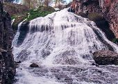 picture of waterfalls  - waterfall in the mountains waterfall in the mountains - JPG