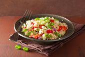 pic of chive  - healthy quinoa salad with tomato cucumber onion chives - JPG