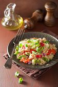 picture of chive  - healthy quinoa salad with tomato cucumber onion chives - JPG