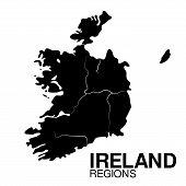 picture of ireland  - Ireland  Regions map - JPG