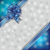 Постер, плакат: Рождество Иллюстрация на фоне снежинки