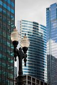 picture of high-rise  - Downtown chicago high rise buildings and skyline - JPG