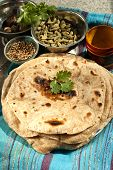 picture of whole-wheat  - Traditional Indian bread prepared with wheat flour whole wheat - JPG