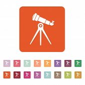 foto of spyglass  - The telescope icon - JPG