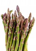 foto of immune  - Bunch of fresh green asparagus on white background healthy food nutrition and strengthening immunity - JPG