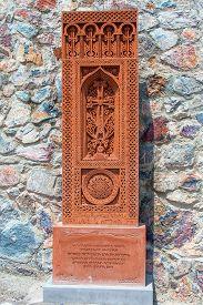 image of armenia  - Stone Cross in Armenia Stone Cross in Armenia  - JPG
