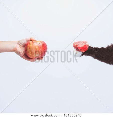 Go Vegan Concept Of Veganism
