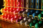 picture of miniature golf  - a few Colorful choices for the round - JPG