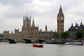 stock photo of big-ben  - view of english houses of parliament - JPG