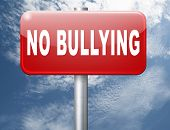 Stop bullying at school or at work stopping an online internet bully 3D illustration  poster