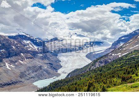 Sweeping Vista Of Saskatchewan Glacier