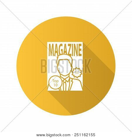Magazine Flat Design Long Shadow