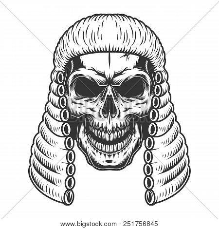 Skull In The Judge Wig
