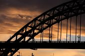 Tyne Bride At Sunset