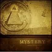 picture of freemason  - vector mystery background - JPG