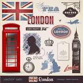 picture of big-ben  - vector set - JPG