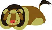 stock photo of zoo animals  - vector lion design - JPG