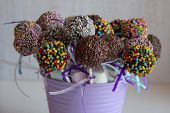 Colored Sweet Cake Pops Candy. Candy Bar And Popcakes Catering Concept For Birthday, Wedding And Oth poster