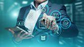 Document Management Data System Business Internet Technology Concept. poster