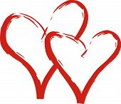 picture of two hearts  - Valentine - JPG