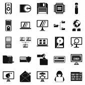 Data Recovery Icons Set. Simple Set Of 25 Data Recovery Vector Icons For Web Isolated On White Backg poster