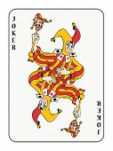 picture of playing card  - symmetric joker playing card  - JPG
