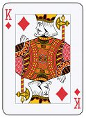 foto of playing card  - King of Diamonds playing card - JPG