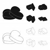 Box, Container, Package, And Other  Icon In Black, Outline Style.case, Shell, Framework Icons In Set poster