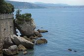 Coastline Along The Gulf Of Trieste, Italy poster