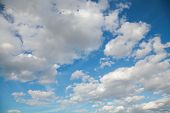 Cloudy Sky On A Overcast Day, Nature poster