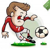 Постер, плакат: Футбол игрок на практике