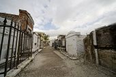 foto of burial-vault  - Old tombs in an historic New Orleans cemetary - JPG