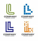 L Letter Logo Design Vector Illustration Logo Set, L Letter Logo Vector, Letter L Logo Vector, Creat poster