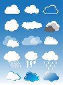 image of hurricane clips  - Clouds vector set - JPG