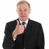 Ältere Businessman Giving Thumbs Up