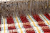 stock photo of handloom  - a the old loom in china  - JPG