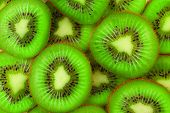 Kiwi slices as background