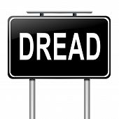 pic of dreads  - Illustration depicting a sign with a dread concept - JPG