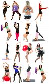 picture of contortionist  - acrobat activity adult aerobics athlete athletic attractive balance ball beautiful bicep body caucasian collage contortionist exercise female figure fitness flexibility girl gracefulness gym gymnastics healthy isolated long hair make stretch meditation mo - JPG