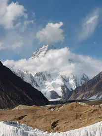 picture of skardu  - K2 the second highest mountain in the world in the Karakorum Range Pakistan - JPG