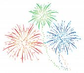 image of bomb  - colourful fireworks illustration for new year holiday - JPG