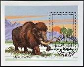 MADAGASCAR - CIRCA 1994: A stamp printed in Madagascar shows mammoth circa 1994