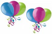 Grouped Party Balloons On White