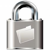 pic of pick-lock  - File folder or document icon on secure vector lock button - JPG